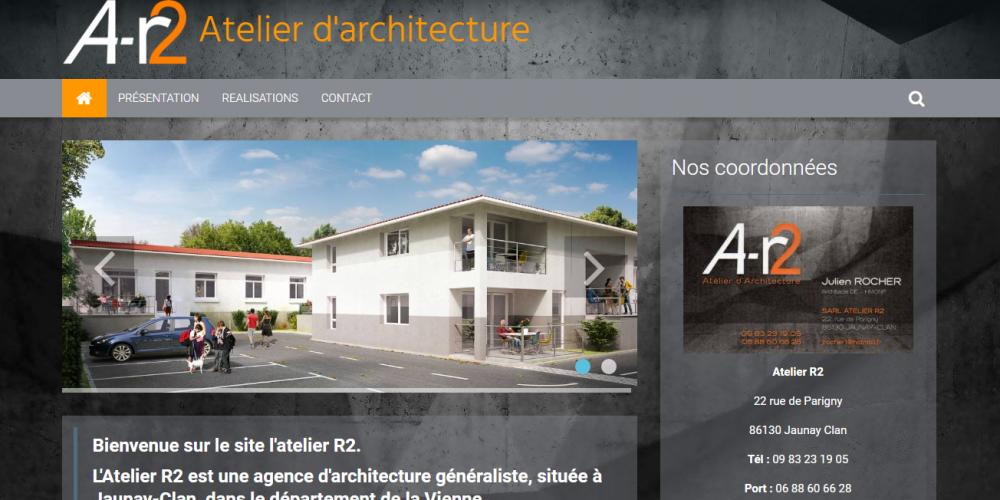 site vitrine cabinet d'architecture