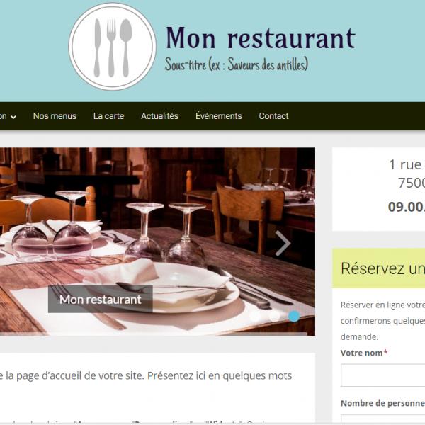 site vitrine pour restaurant