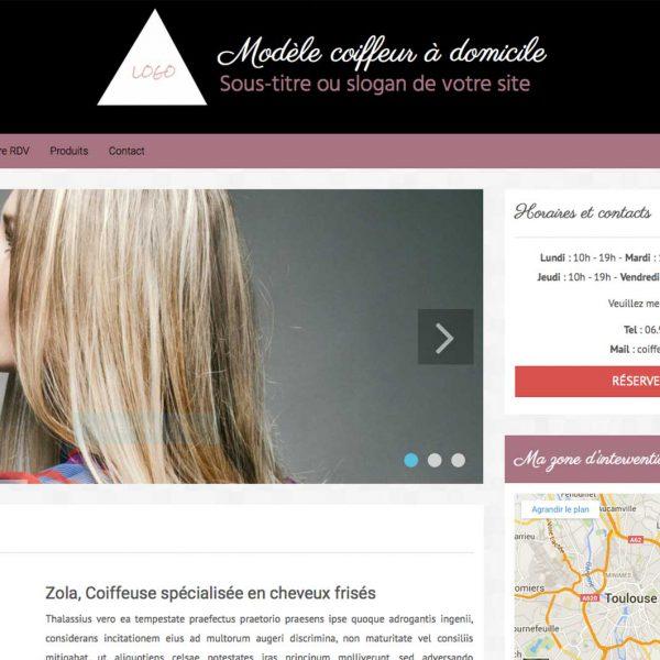 site internet pour coiffeur à domicile