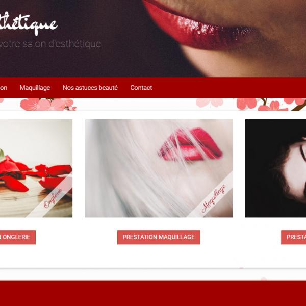 site internet de beauté