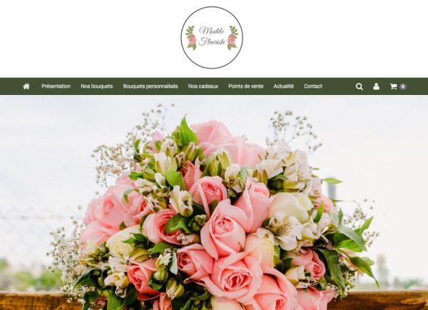 page d'accueil site fleuriste