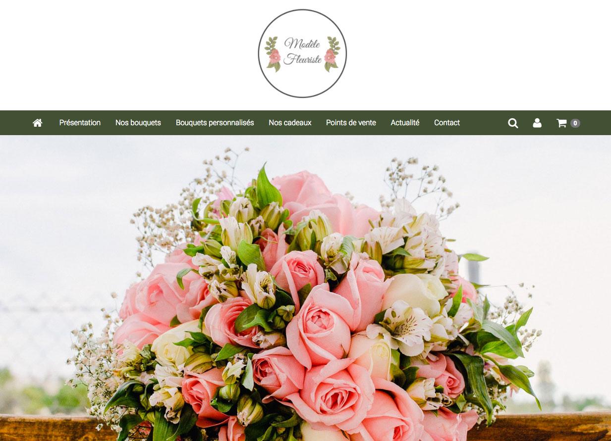 page-daccueil-site-fleuristesite internet pour fleuriste