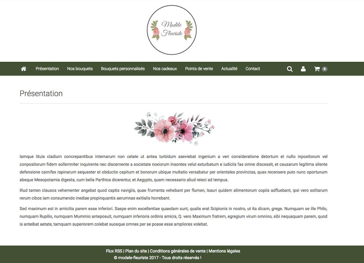 Site internet pour fleuriste ardm web cr ation et for Site fleuriste