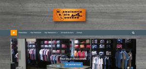 Site internet de la menuiserie mbl