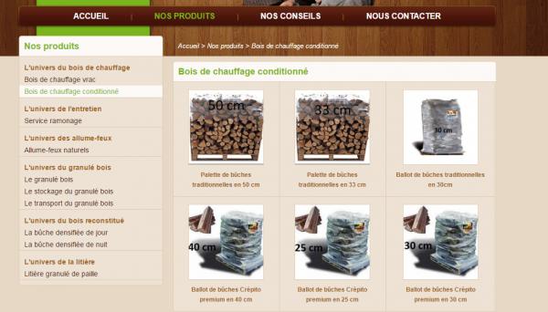 Site internet pour marchand de bois de chauffage