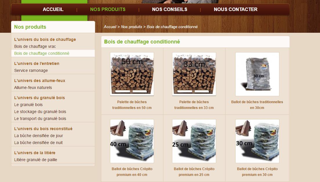 Site internet pour marchand de bois de chauffageSite internet pour marchand de bois de chauffage