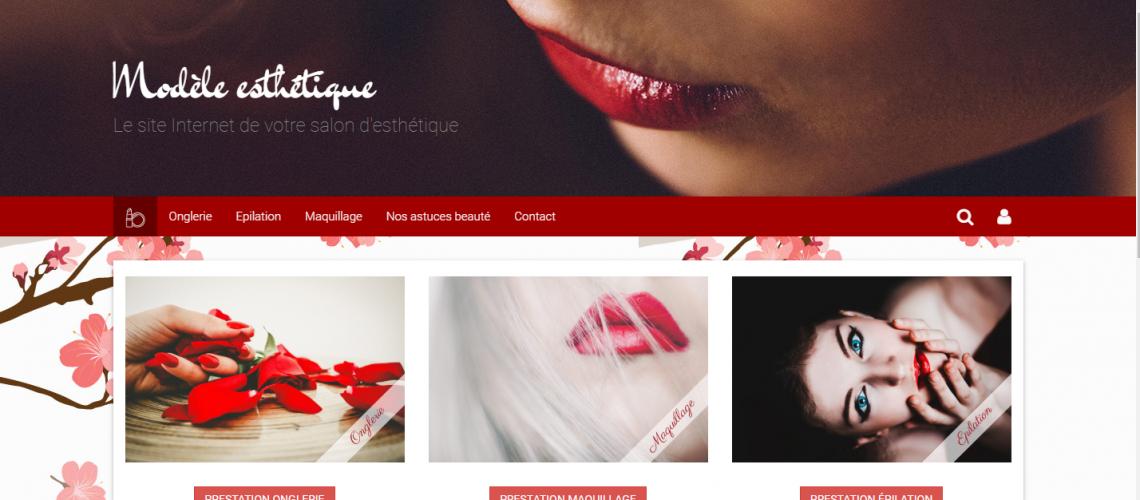 Site pour salon d'esthétique