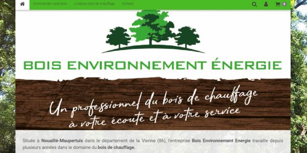 Site internet Bois Environnement Energie